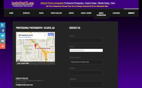 Screenshot of Privacy Page Contact Page lookatyouatl.com - Professional Photography in Atlanta, GA - Modeling, Family, Business: Look At You ATL - captured Oct. 25, 2014