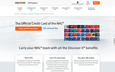 NHL Discover Card: Explore the NHL Credit Card | Discover