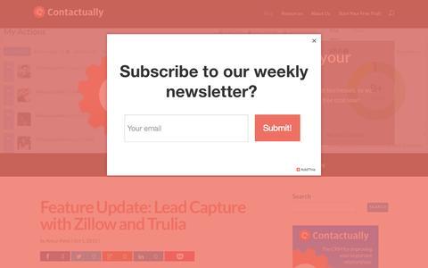 Screenshot of Blog contactually.com - The Contactually Blog - captured Oct. 1, 2015