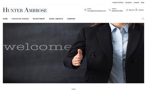 Screenshot of Jobs Page hunterambrose.com - CAREERS – Hunterambrose - captured Sept. 30, 2018