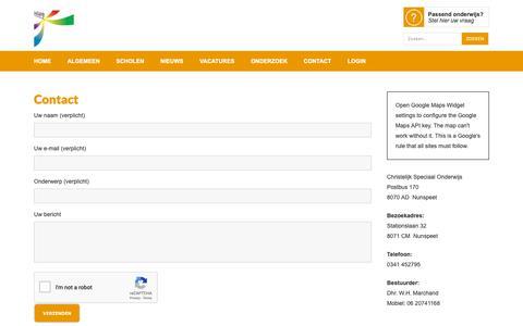 Screenshot of Contact Page educare-harderwijk.nl - Contact - Educare Harderwijk - captured Sept. 27, 2018