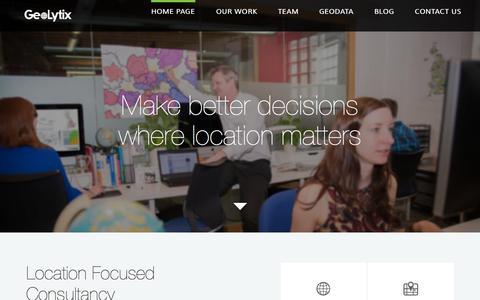 Screenshot of Home Page geolytix.co.uk - GeoLytix - captured July 20, 2015