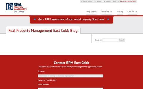 Screenshot of Blog rpmeastcobb.com - Atlanta GA Property Management Blog   Real Property Management East Cobb - captured Nov. 24, 2017