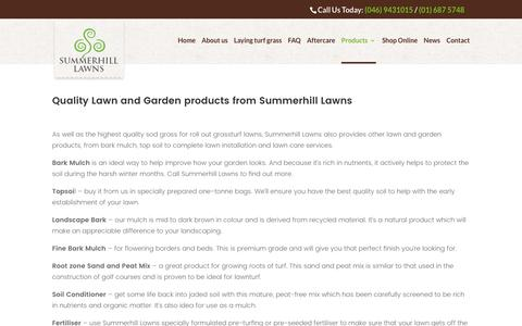 Screenshot of Products Page summerhilllawns.ie - Lawn and Garden Products from Summerhill Lawns - see the full range! - captured July 3, 2017