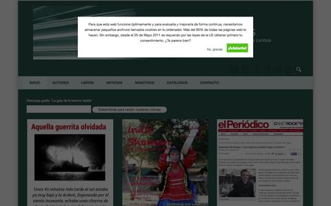 Screenshot of Home Page guid-publicaciones.com - Guid Publicaciones - Libros curiosos para gente curiosa - captured Oct. 3, 2014