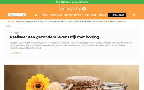 Screenshot of Blog honingshop.nl - Blog - Honingshop.nl - captured Sept. 30, 2018