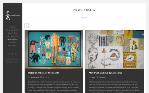 Screenshot of Press Page estradafineart.com - News / Blog - Estrada Fine ArtEstrada Fine Art - captured July 15, 2016