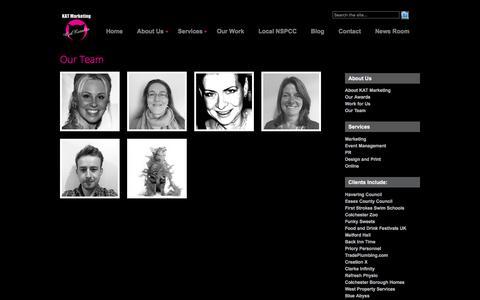 Screenshot of Team Page katmarketing.co.uk - Our Team - captured Jan. 9, 2016