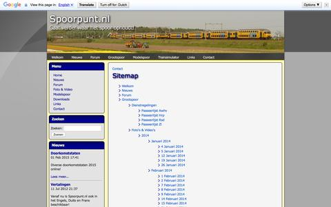 Screenshot of Site Map Page spoorpunt.nl - Spoorpunt.nl - Sitemap - captured May 29, 2016
