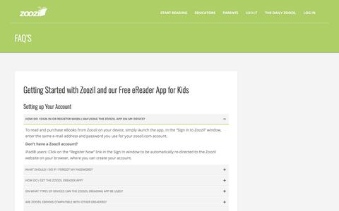Screenshot of FAQ Page zoozil.com - FAQ's - Zoozil - captured Oct. 26, 2017