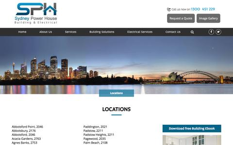 Screenshot of Locations Page sydneypowerhouse.com.au - Locations - Sydney Power House Sydney Power House - captured Oct. 26, 2017
