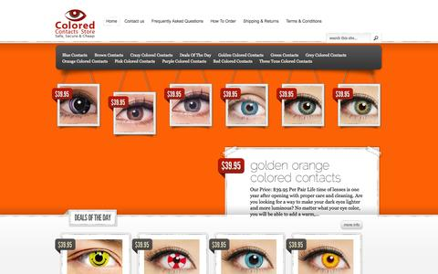 Screenshot of Home Page coloredcontactsstore.com - Colored Contacts Store   The #1 Site For Non Prescription Color Contacts Online - captured Jan. 26, 2015