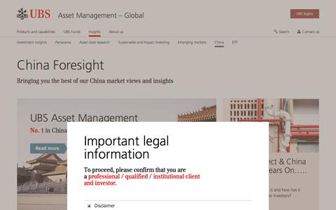 Screenshot of Team Page ubs.com - Investing in China – Market insights | UBS Global topics - captured Nov. 14, 2019