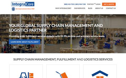 Screenshot of Home Page integracore.com - Your Global Supply Chain Services and Management Company | Small and Large Businesses | IntegraCore - captured May 3, 2016