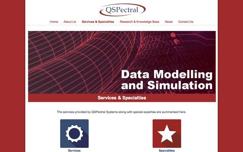 Screenshot of Services Page qspectral.com.au - Services & Specialties - QSPectral - captured July 18, 2015