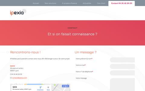 Screenshot of Contact Page ipexia.com - Contacter ipexia - captured May 26, 2017