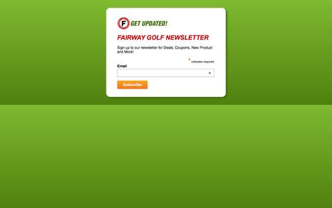 Screenshot of Signup Page fairwaygolfusa.com - Sign Up for Fairway Golf Newsletter - captured Jan. 17, 2016