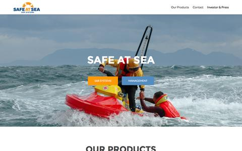 Screenshot of Home Page safeatsea.se - Safe at Sea AB - Saves lives at sea - captured Feb. 2, 2016