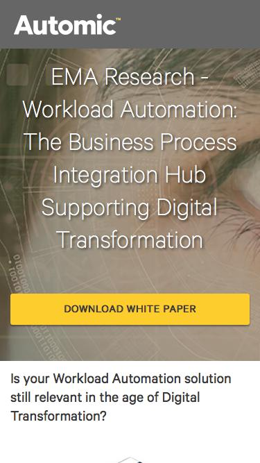 EMA Research: Workload Automation & Digital Transformation Report