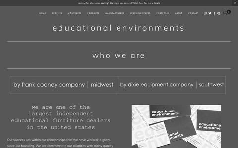 Screenshot of About Page frankcooney.com - Who We Are — Educational Environments - captured Oct. 11, 2018