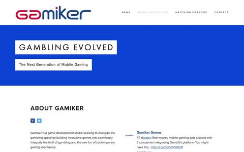 Screenshot of About Page gamiker.com - Gambling Evolved — Gamiker Games - captured Sept. 30, 2014