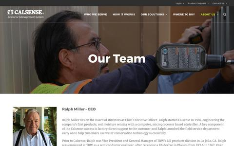 Screenshot of Team Page calsense.com - Our Team & Water Resources Management | Calsense - captured May 13, 2017