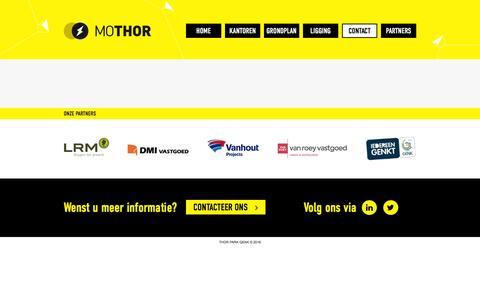 Screenshot of Contact Page mothor.be - Contact     MOTHOR - captured Aug. 13, 2016