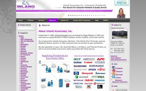 Screenshot of About Page inlandassoc.com - Authorized distributor of Genicom, Tally, Printek, Fujitsu, Lexmark,  Printronix, Oki, OkiData printers... - captured Feb. 11, 2016