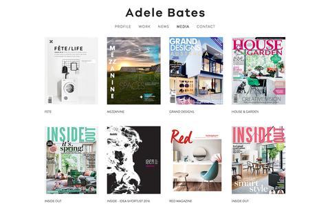 Screenshot of Press Page adelebates.com.au - MEDIA — Adele Bates . Interior Design Melbourne - captured Nov. 20, 2016