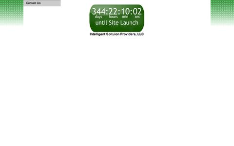 Screenshot of Home Page intelligent-sp.com - Intelligent Solution Providers, LLC - captured Oct. 6, 2014