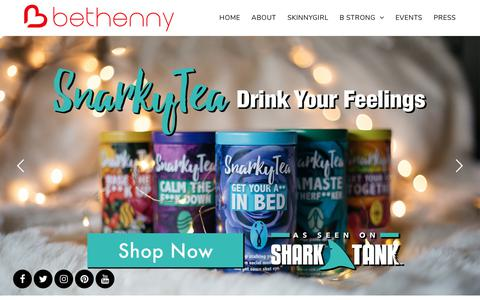 Screenshot of Home Page bethenny.com - Bethenny Frankel | Official Website - captured Sept. 22, 2018