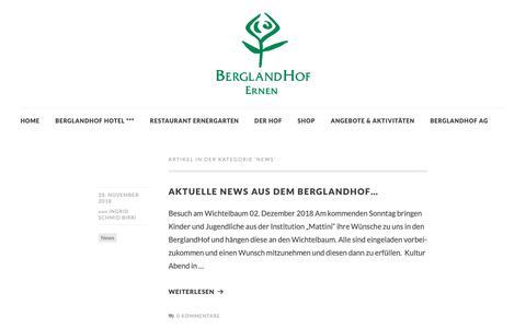 Screenshot of Press Page berglandhof.ch - News   BerglandHof (Ernen / Schweiz) - captured Dec. 2, 2018