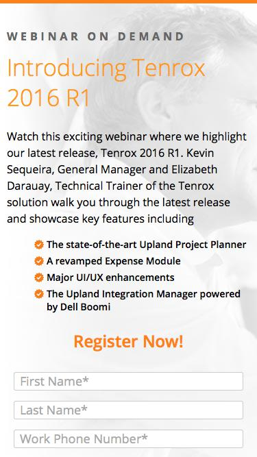 What's New in Tenrox 2016 R1