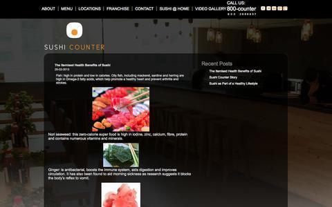 Screenshot of Blog sushicounter.com - Sushi Counter Restaurant Dubai - captured Oct. 7, 2014