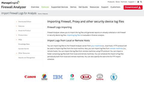 Importing Firewall Log Files :: Firewall Analyzer