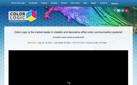 Screenshot of Home Page color-logic.com - COLOR-LOGIC   Special Effects for Print - captured Sept. 30, 2015