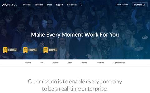 Work at MemSQL - MemSQL Careers