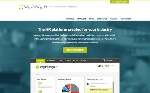 Screenshot of Products Page wyckwyre.com - WyckWyre - captured Sept. 23, 2014