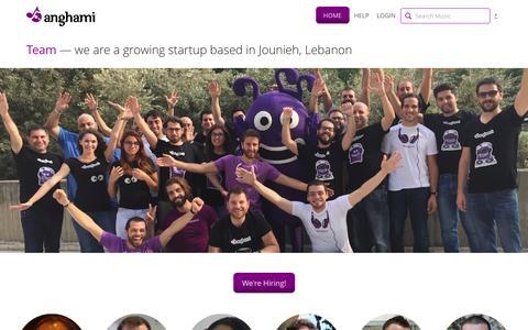 Screenshot of Team Page anghami.com - Team — Anghami - captured Oct. 26, 2015