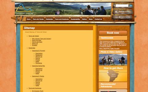 Screenshot of Site Map Page tierradelvolcan.com - Sitemap «  Tierra del Volcan - captured Oct. 6, 2014