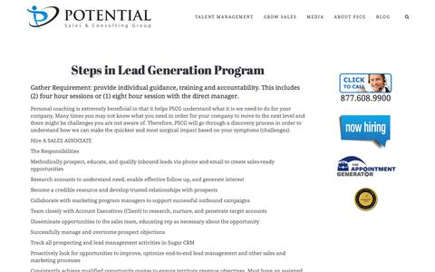Lead Generation – Potential Sales and Consulting Group