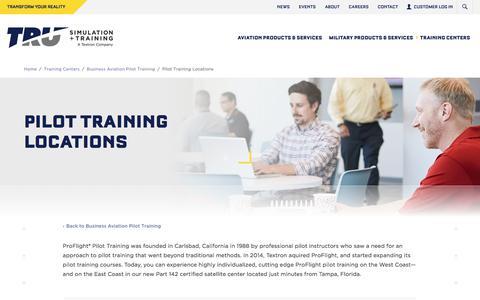 Screenshot of Locations Page trusimulation.com - ProFlight Locations | TRU Simulation + Training | TRU Simulation - captured Sept. 5, 2017