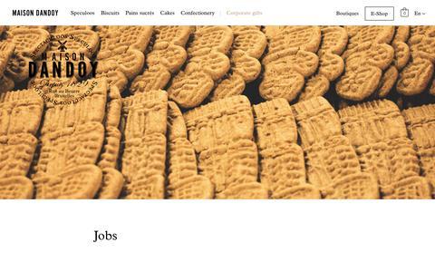Screenshot of Jobs Page maisondandoy.com - Jobs - Maison Dandoy - captured Oct. 2, 2018