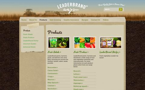 Screenshot of Products Page leaderbrand.co.nz - Products » LeaderBrand New Zealand - captured Oct. 27, 2014