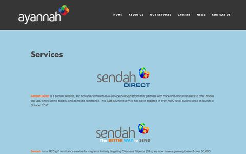 Screenshot of Services Page ayannah.com - Our Services — Ayannah - captured Aug. 31, 2016