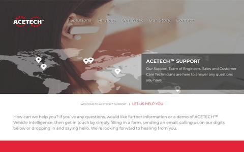Screenshot of Contact Page atsr.ie - ACETECH™ SUPPORT - captured Oct. 4, 2018