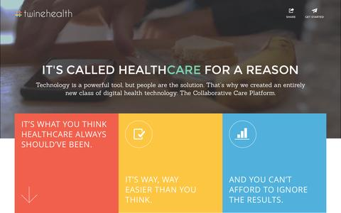 Screenshot of Home Page twinehealth.com - Twine Health - Technology for collaborative care - captured Aug. 12, 2015