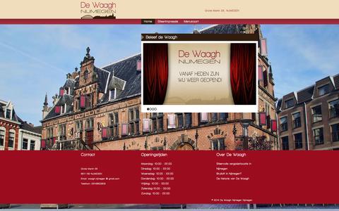 Screenshot of Home Page de-waagh.nl - Beleef de Waagh - Restaurant & Stadscafé De Waagh Nijmegen - captured Sept. 30, 2014