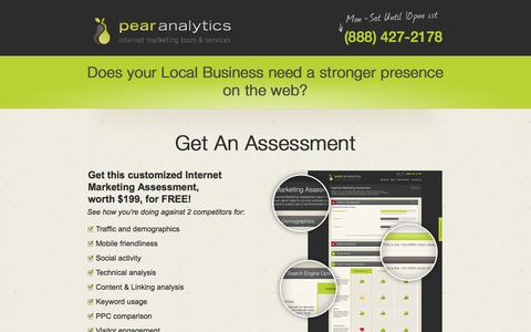 Screenshot of Landing Page pearanalytics.com - Local Business Marketing - captured Oct. 27, 2014