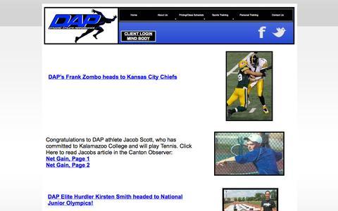 Screenshot of Press Page d-a-p-t.com - News - captured Oct. 5, 2014